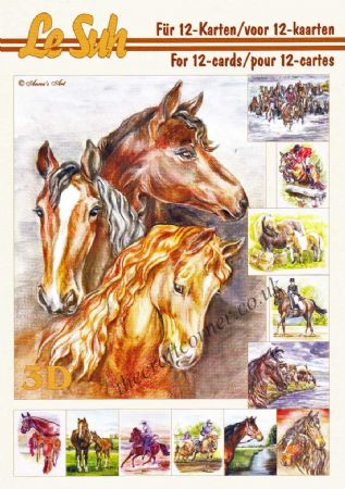 Horses A5 3D Decoupage Book from Le Suh
